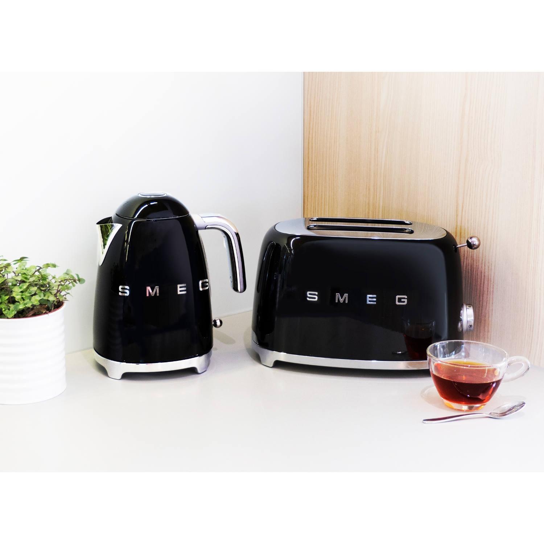 Smeg Tsf01bluk 2 Slice Toaster Black Herne Bay