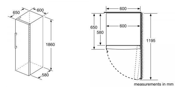 Bosch GSN33VWEPG - Dimensions