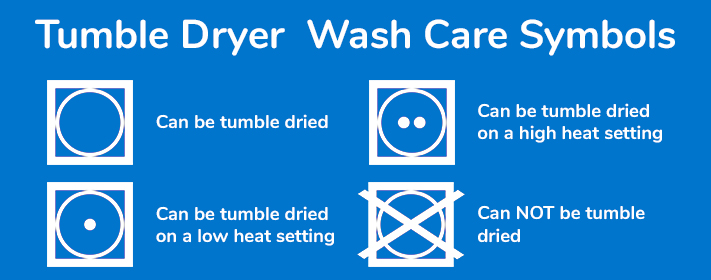 Tumble Dryer Wash Care Symbols Explained