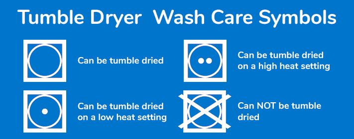 Tumble Dryer Wash Care Symbols Explained - Herne Bay