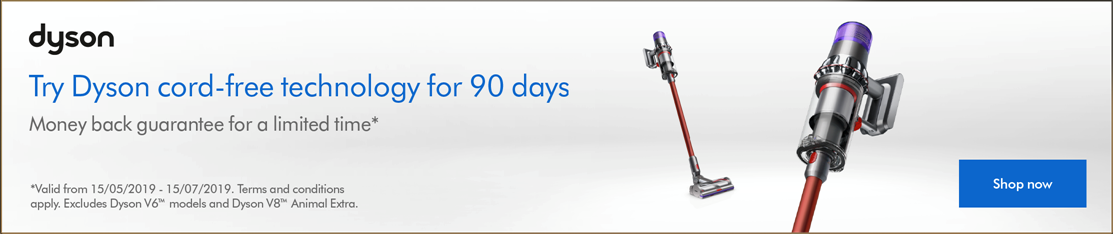 Try Dyson cord-free for 90 days