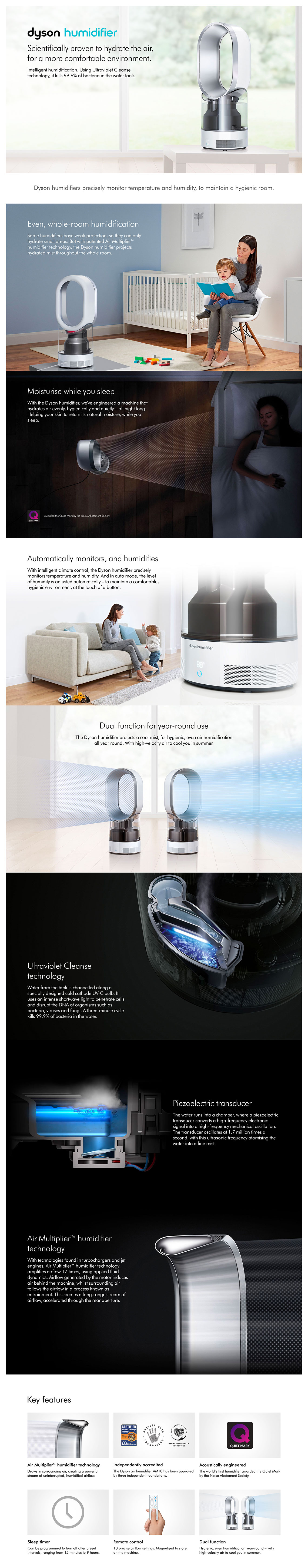 Dyson HP04 Purifier 3 in 1- Silver, White