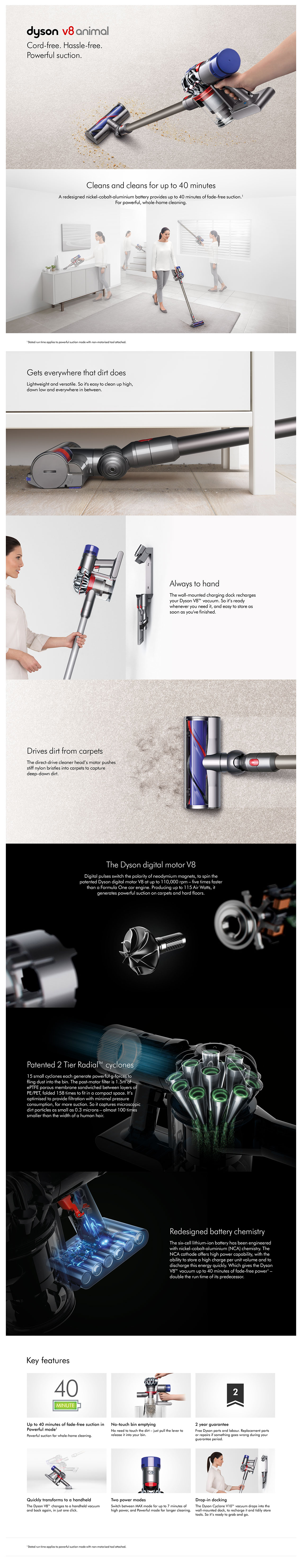 Dyson V8 Animal+ Cordless Bagless Vacuum Cleaner