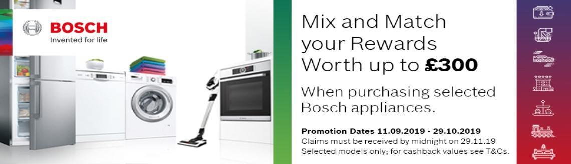 Bosch Mix and Match Product Banner