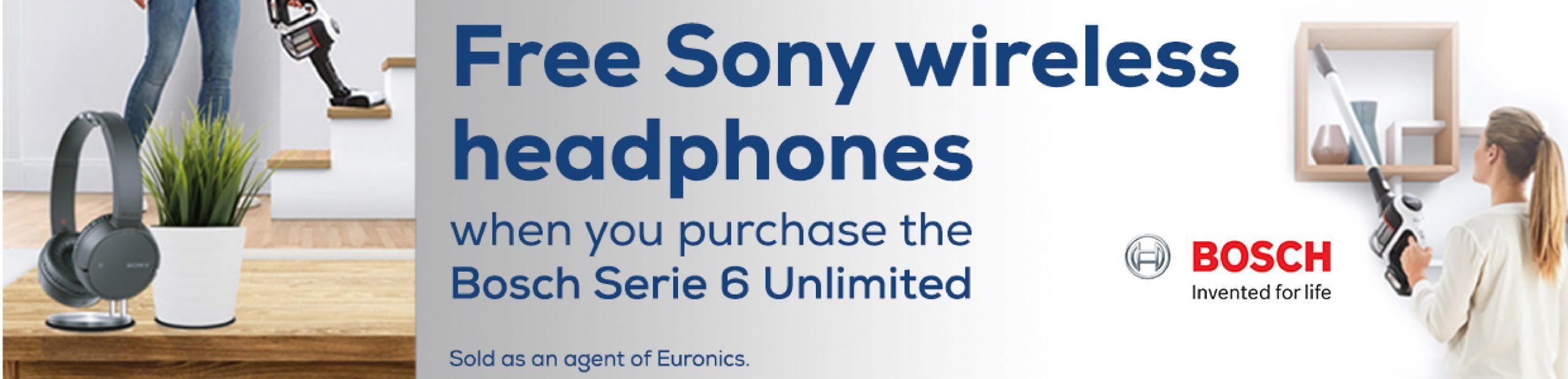 Free Sony Wireless Headphones - Bosch