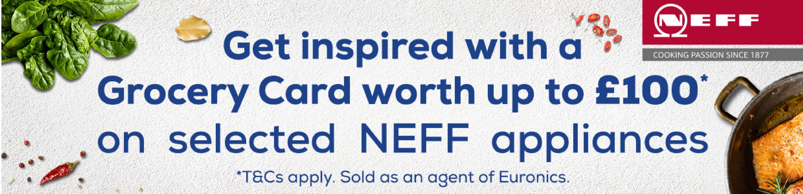 Neff grocery card worth up to £100 promotion