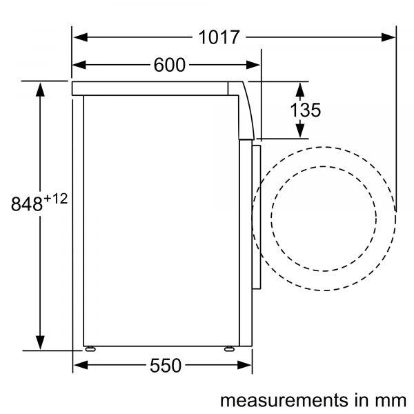 Bosch WAN282X1GB - Dimensions