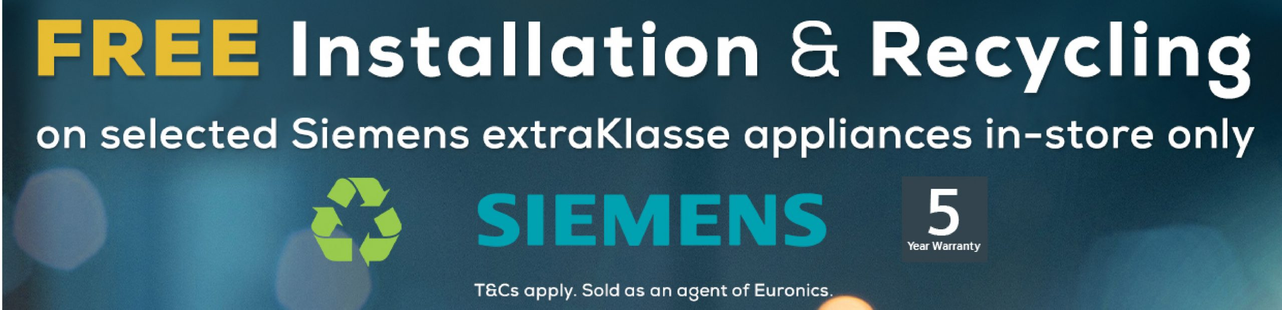 Siemens Free Install & Recycle Promotion
