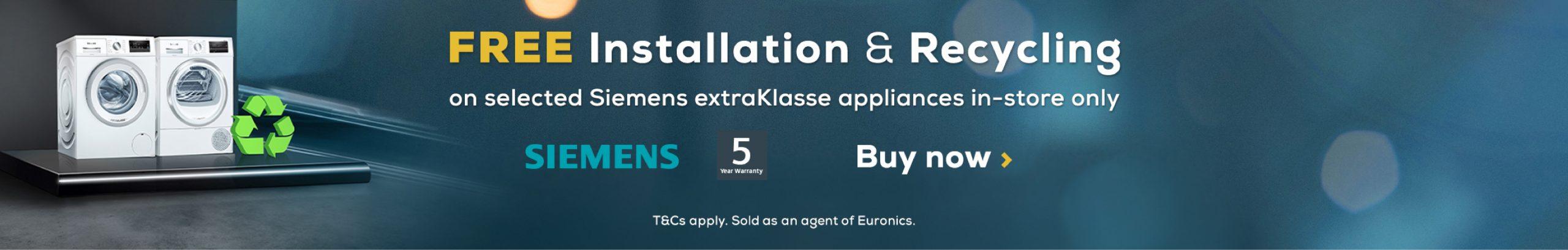 Siemens Free Install Promotion